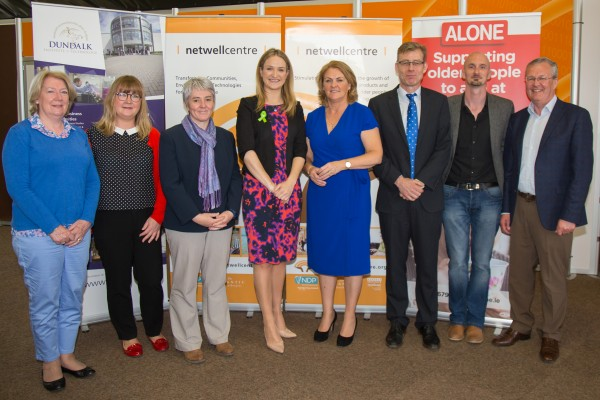 """This is all about collaboration"", Minister Helen McEntee (pictured here with ALONE team)."
