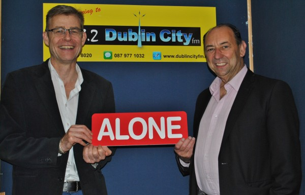 CEO of ALONE, Seán Moynihan and CEO of Dublin City FM, Mick Hanley