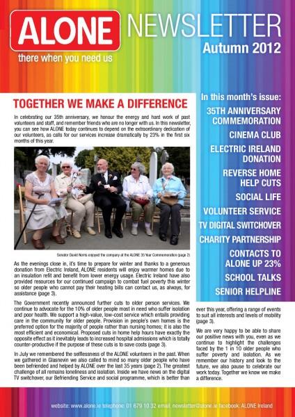 2012 ALONE Autumn Newsletter