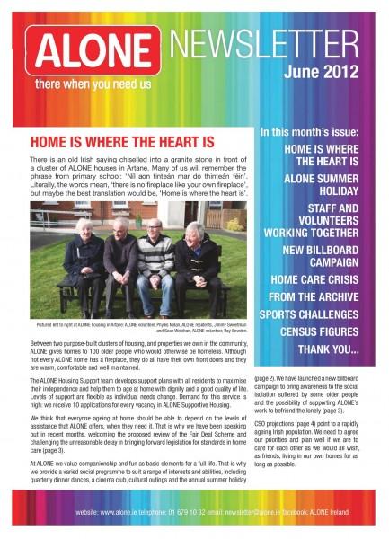 2012 ALONE Summer Newsletter