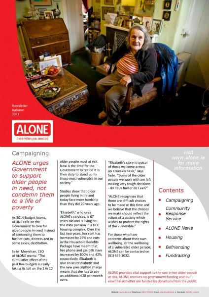 2013 ALONE Autumn Newsletter