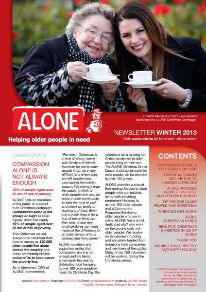2013 ALONE Winter Newsletter