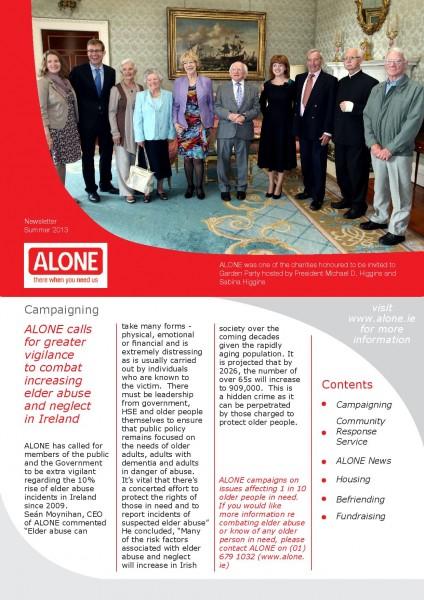 2013 ALONE Summer ALONE Newsletter
