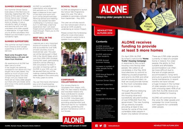 2014 ALONE Autumn Newsletter