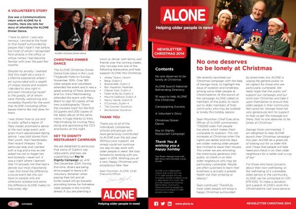 2014 ALONE Christmas Newsletter