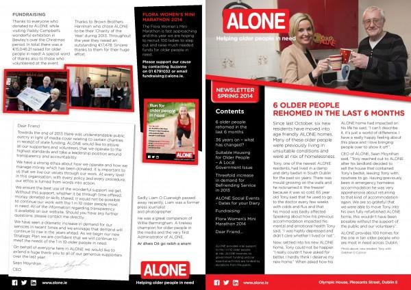 2014 ALONE Spring Newsletter