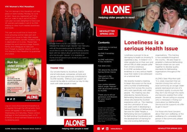 2015 ALONE Spring Newsletter